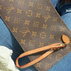 Authentic LV wristlet